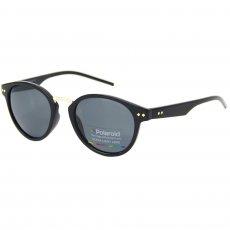Óculos de sol Polaroid 1022 redondo preto 7bb9d53e95