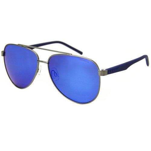 65ff2ffb5afd4 Óculos de sol Polaroid 2043 aviador espelhaod na Optica Via Prisma